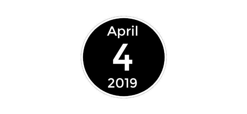 April 4 2019