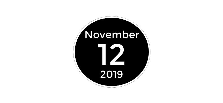 november 12 2019